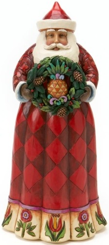 Jim Shore 4017660 Santa Pineapple Wreath Figurine