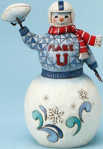 Jim Shore 4017664 Football Snowman Figurine
