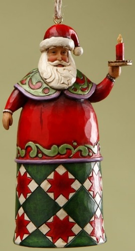 Jim Shore 4017856 Santa Candle Ornament
