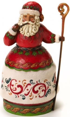 Jim Shore 4018413 Santa Pipe and Cane Figurine