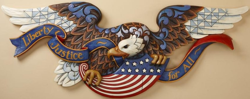 Jim Shore 4018706 Bald Eagle Plaque