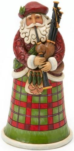 Jim Shore 4018857 Scottish Santa Figurine