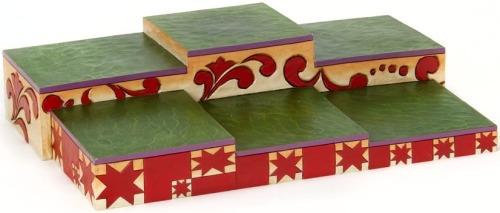 Jim Shore 4019072 Christmas Red & Green Base