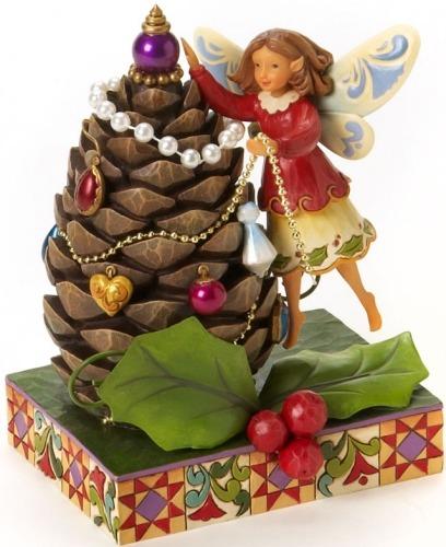 Jim Shore 4019321 Fairy & Pine Cone Tree Figurine