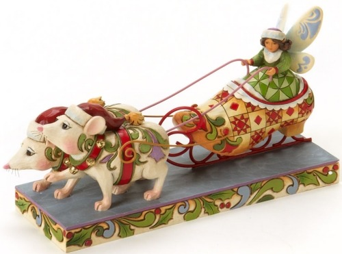 Jim Shore 4019322 Fairy in Shoe Sleigh Figurine