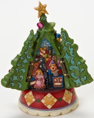 Jim Shore 4019325 Christmas Tree Hidden Scene