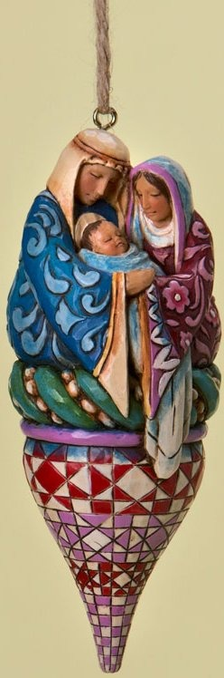 Jim Shore 4019790 Holy Family on Finial Hanging Ornament
