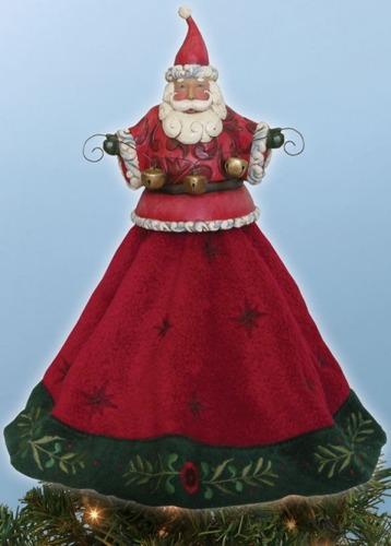 Jim Shore 4020466 Santa Tree Topper
