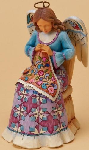 Jim Shore 4020599 Sewing Angel Figurine