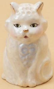 Jim Shore 4020603 Cat Patterned Thimble Thimble