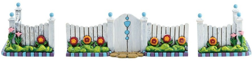 Jim Shore 4021341 Picket Fence and Gate