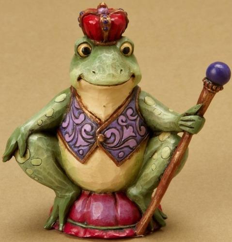 Jim Shore 4021440 Mini Frog Crown Figurine