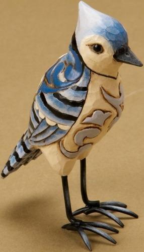 Jim Shore 4021443 Mini Blue Jay Figurine