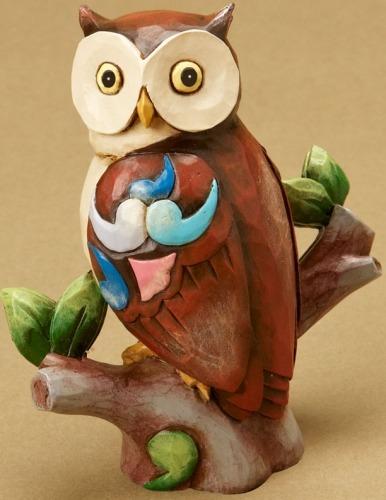 Jim Shore 4021445 Mini Owl Figurine