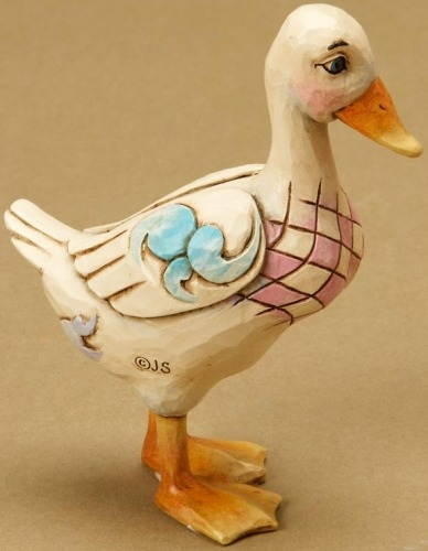 Jim Shore 4021450 Mini Duck Figurine