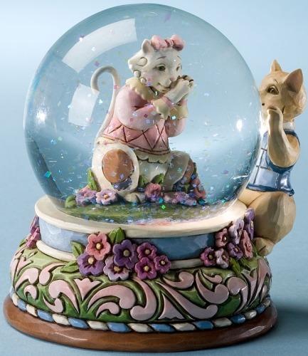 Jim Shore 4022555 Kitten Love Waterball