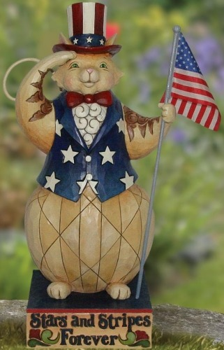 Jim Shore 4022561 Patriotic Cat Figurine