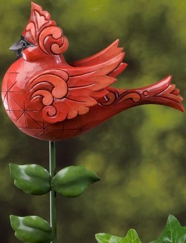 Jim Shore 4022564 Cardinal Garden Stake Garden Stake
