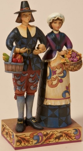 Jim Shore 4022907 Pilgrim's Proud Figurine