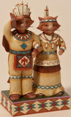 Jim Shore 4022908 Tribal Cats Figurine