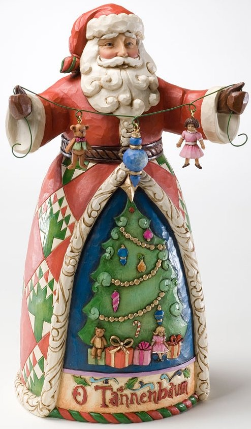 Jim Shore 4022921 O Tannenbaum Santa Figurine