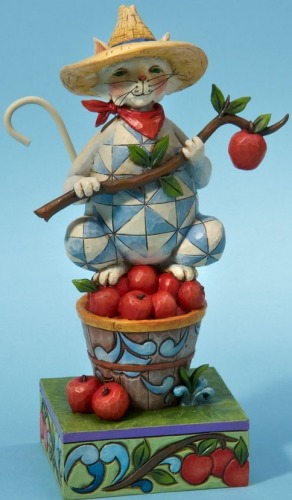 Jim Shore 4022937 Purrfectly Picked Figurine