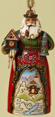 Jim Shore 4022938 German Santa Ornament