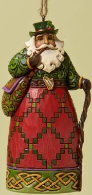 Jim Shore 4022939 Irish Santa Ornament