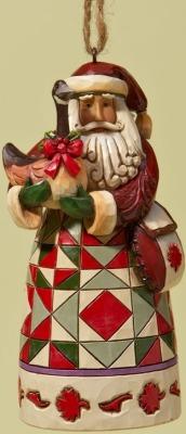 Jim Shore 4022940 Canadian Santa Ornament