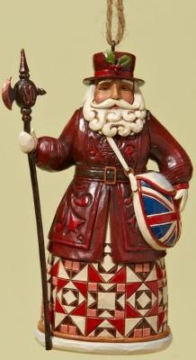Jim Shore 4022941 British Santa Ornament