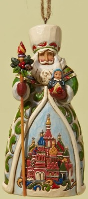 Jim Shore 4022942 Russian Santa Ornament - Russia