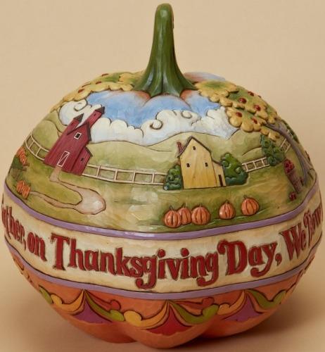 Jim Shore 4023440 Let us Pray Thanksgiving Day Figurine
