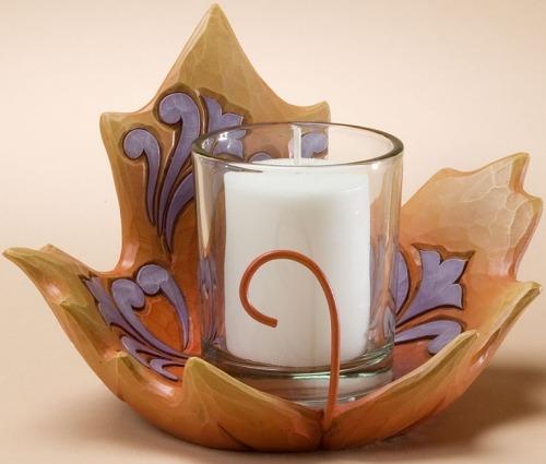Jim Shore 4023453 Maple Leaf Candle Holder Votive Holder