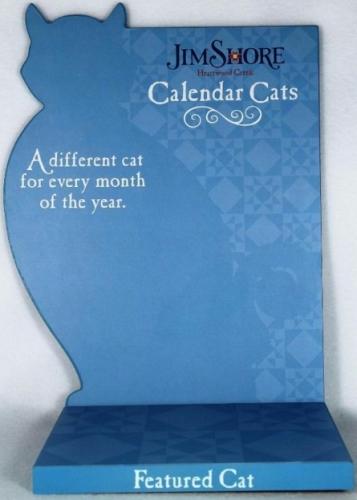 Jim Shore 4024366 Calendar Cats Display For Collectibles