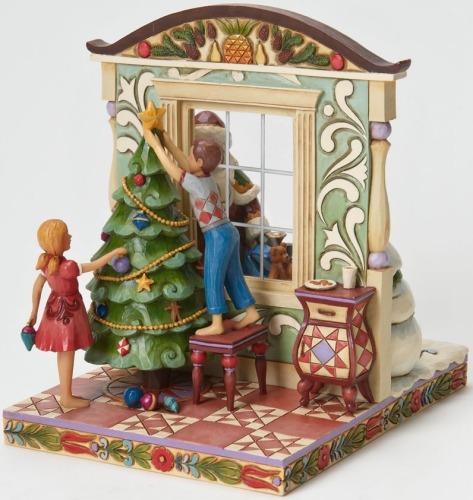 Jim Shore 4024787 2 Sided Santa Window Scene