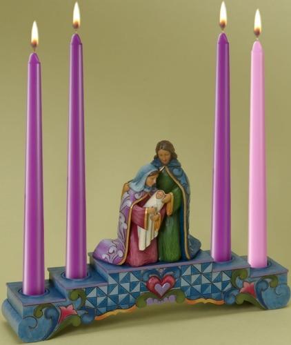 Jim Shore 4024790 Advent Candleholder