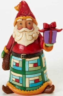 Jim Shore 4025627 Mini Santa Present Figurine