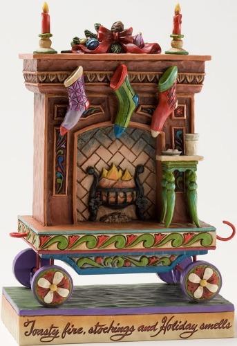 Jim Shore 4025631 Fireplace Christmas Train