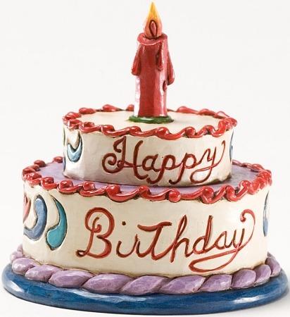 Jim Shore 4025846 Mini Birthday Cake Figurine