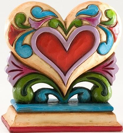 Jim Shore 4025847 Mini Heart Figurine