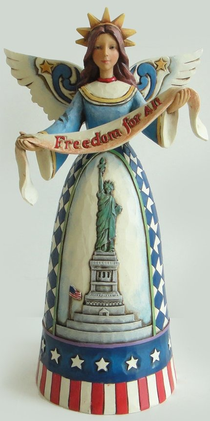 Jim Shore 4026441 God Bless Our Heroes Figurine