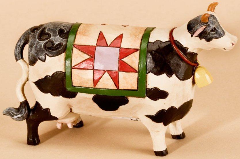 Jim Shore 4026879 Cow Mini Figurine