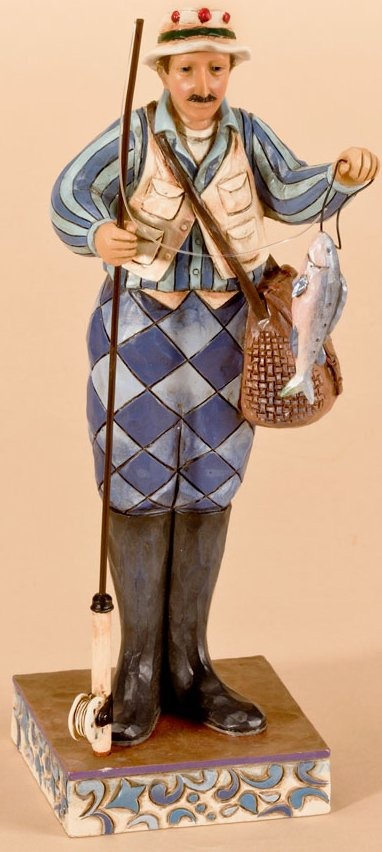 Jim Shore 4026887 The Reel World Figurine
