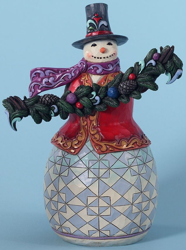 Jim Shore 4027712 Trimmed Good Tidings Figurine