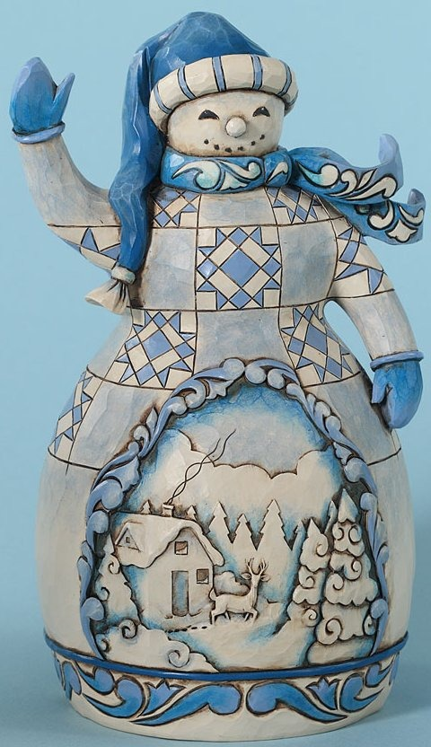Jim Shore 4027713 Cheerful Greetings Figurine