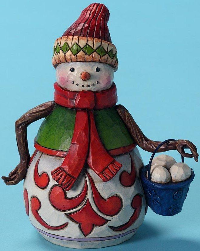 Jim Shore 4027715 Snow Ball Fight Anyone Figurine