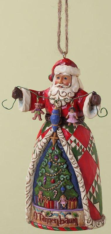 Jim Shore 4027741 O Tannenbaum Santa Ornament