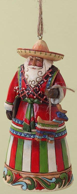 Jim Shore 4027742 Mexican Santa Ornament