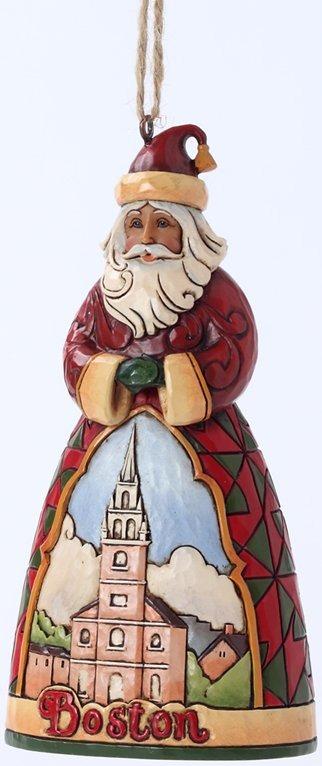 Jim Shore 4027746N Boston Santa Hanging Ornament