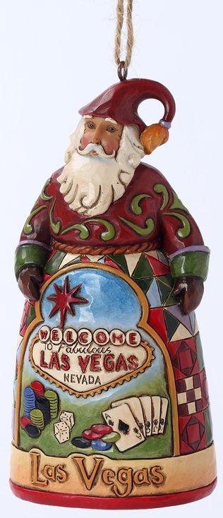 Jim Shore 4027747 Las Vegas Santa Ornament